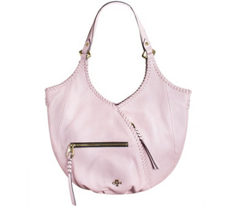 """As Is"" orYANY Pebble Leather Hobo with Whip-Stitching - Demi - A285855"