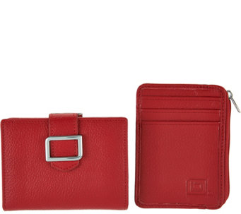 ID Stronghold RFID Buckle Trifold w/ Kiss Clasp and Mini Zip - A286155