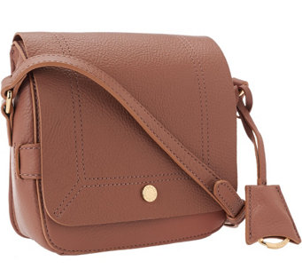 """As Is"" Isaac Mizrahi Live! Nolita Leather Flap Crossbody - A291055"