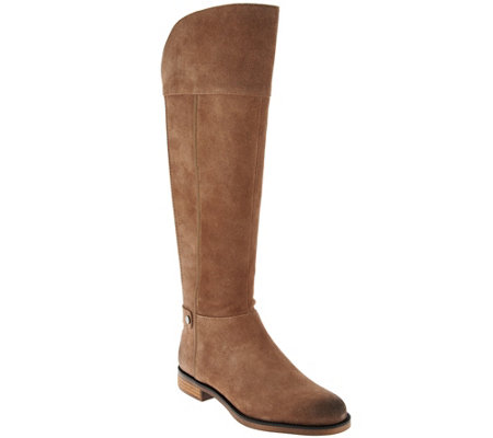 """As Is"" Franco Sarto Suede Medium Calf Tall Shaft Boot - Christine"