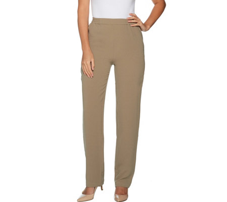 Linea by Louis Dell'Olio Regular Gauze Crepe Pull On Pants