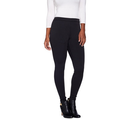 """As Is"" H by Halston Classic Ribbed Leggings"