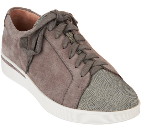 Gentle Souls Leather Lace-up Sneakers - Haddie