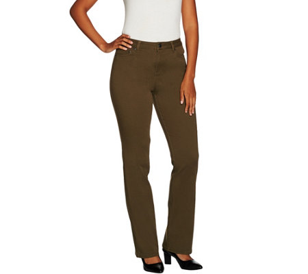 LOGO by Lori Goldstein Stretch Twill Mini Bootcut Pants