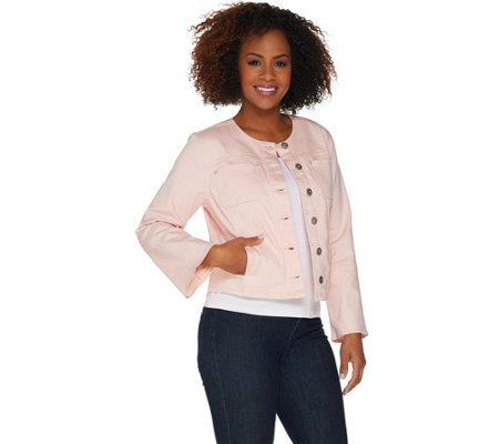 Belle by Kim Gravel Stretch Twill Jacket with Bell Sleeves