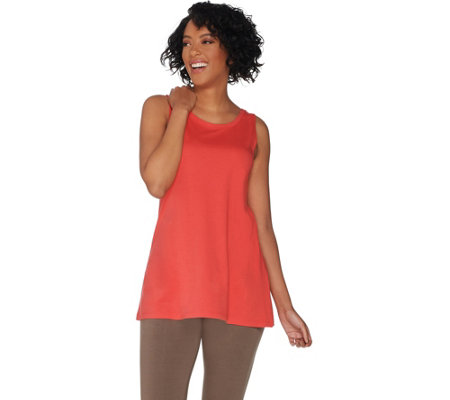 LOGO Principles by Lori Goldstein Cotton Modal Knit Tank