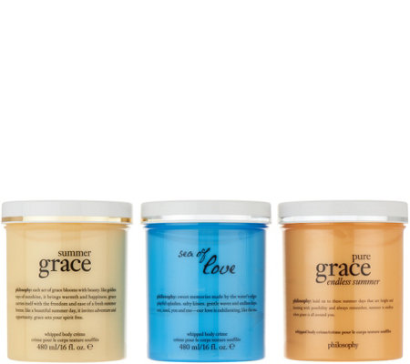 philosophy super-size summer whipped body creme trio