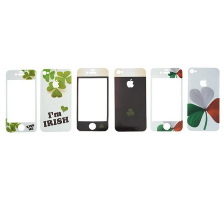 """As Is"" Rosso Solini Set of 3 Designer Decorations for iPhone"