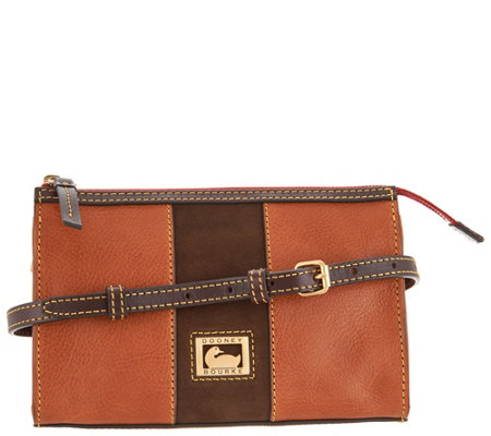 """As Is"" Dooney & Bourke Florentine & Suede East/West Crossbody"