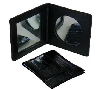 Lee Sands Eelskin Mirror & Coin Case Set - A331255