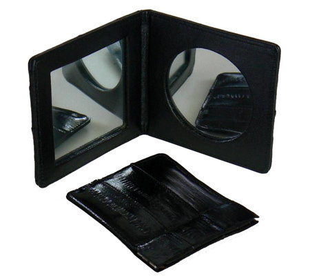 Lee Sands Eelskin Mirror & Coin Case Set