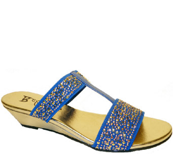 Bellini Stretch T-strap Slide Wedge Sandals - Flavor - A336855