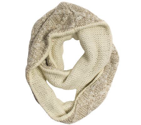 MUK LUKS Women's Textured Diamond Eternity Scarf