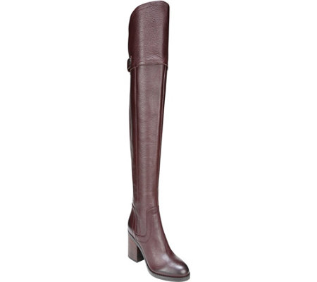 Franco Sarto Over the Knee Wide Calf Leather Boots - Ollie WC