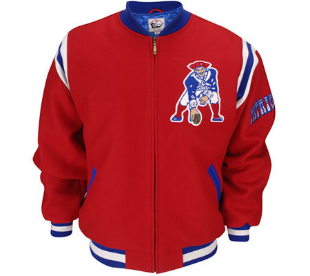 Nfl New England Patriots Retro Wool Jacket Qvc Com