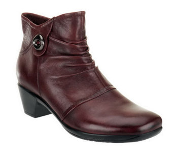 Earth Origins Leather Ankle Boots - Mallory - A235056