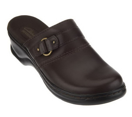 Clarks Bendables Lexi Lilac Lightweight Leather Clogs