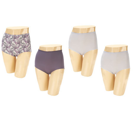 Jockey Set of 4 Traditional Fit High Waist Brief Panties