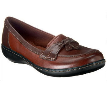 """As Is"" Clarks Bendables Ashland Bubble Slip-on Loafers - A254656"