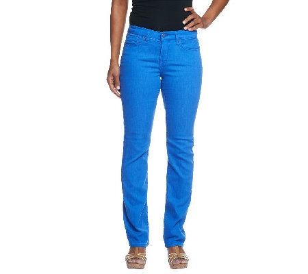 """As Is"" Isaac Mizrahi Live! Icon Grace Straight Leg Denim Jeans"