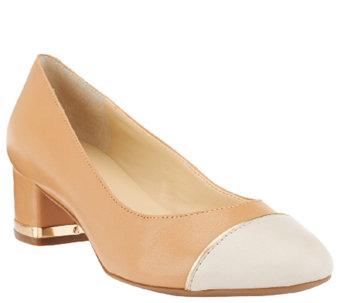Isaac Mizrahi Live! Cap Toe Leather Pumps - A261656