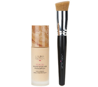 Laura Geller Baked Liquid Radiance Foundation with Brush - A261856