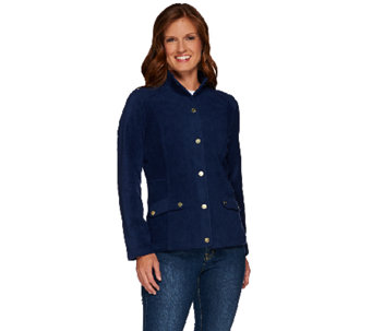 Liz Claiborne New York Tailored Fleece Jacket w/ Quilting - A267256