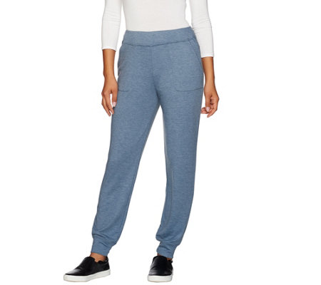 LOGO Lounge by Lori Goldstein French Terry Pants with Pockets