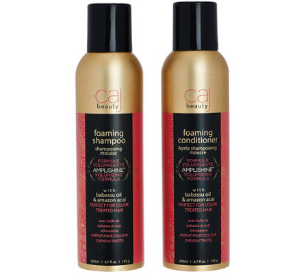 CAJ Beauty 6.7 fl. oz. Foaming Shampoo and Conditioner