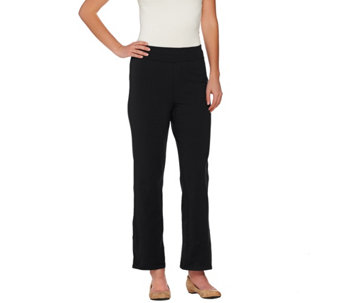 Bob Mackie's Petite Pull-On Boot Cut Knit Pants - A273156