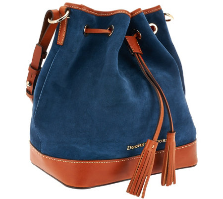 """As Is"" Dooney & Bourke Suede Drawstring Bag"