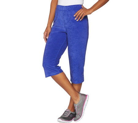 Quacker Factory Terry Cloth Pull-On Capri Pants