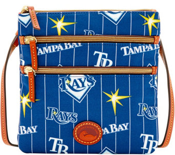 Dooney & Bourke MLB Nylon Rays Triple Zip Crossbody - A281556