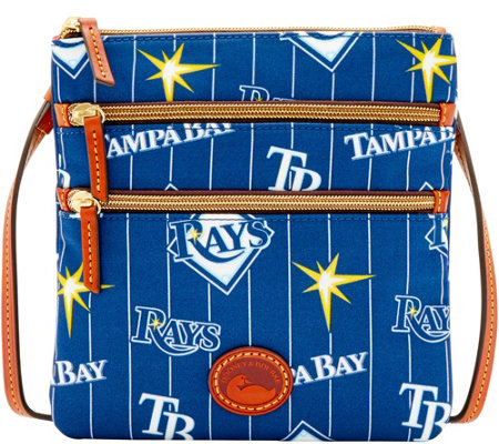 Dooney & Bourke MLB Nylon Rays Triple Zip Crossbody