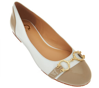 """As Is"" C. Wonder Leather Ballet Flats with Hardware - Elizabeth - A283956"