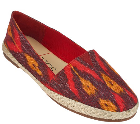 """As Is"" Sole Society Printed Espadrille Slip-ons - Xander"