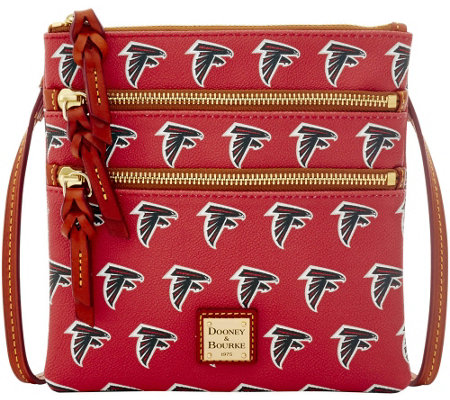 Dooney & Bourke NFL Falcons Triple Zip Crossbody