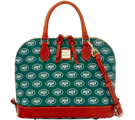 Dooney & Bourke NFL Jets Zip Zip Satchel