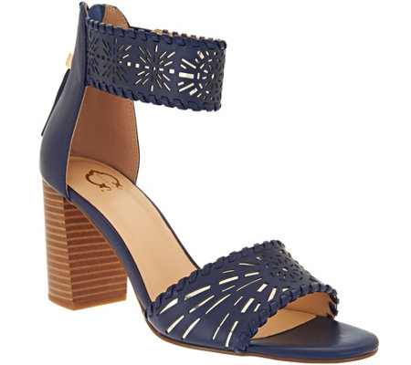 """As Is"" C. Wonder Leather Cutout Sandals w/ Tassels - Katie"