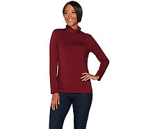 """As Is"" Susan Graver Modern Essentials Cotton Modal Turtleneck Top - A290556"