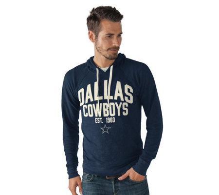 NFL Dallas Men's Long Sleeve Thermal Hooded Top