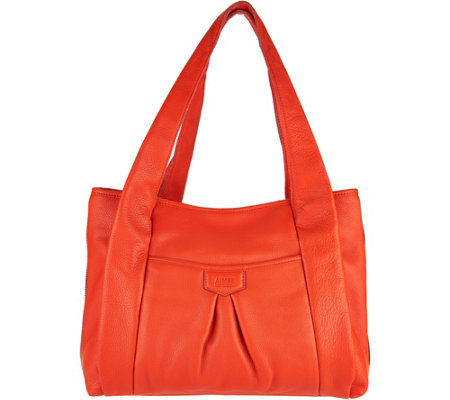 """As Is"" Aimee Kestenberg Pebble Leather Shopper Handbag - Duke"