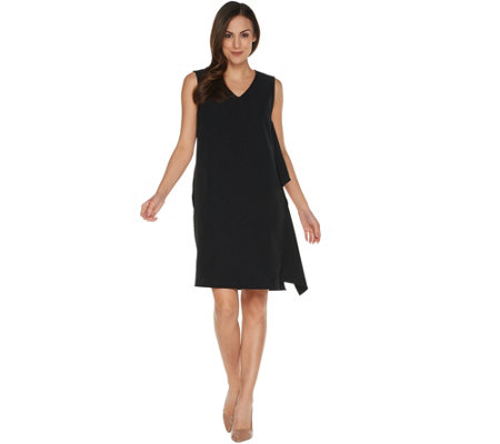 Linea by Louis Dell'Olio Petite Sleeveless Dress w/Cascade