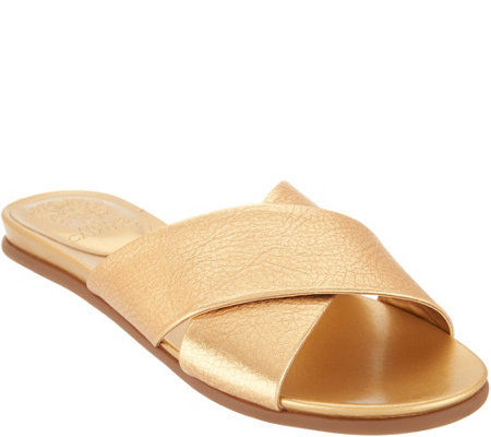 Vince Camuto Cross Band Slides - Esulla