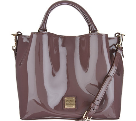 """As Is"" Dooney & Bourke Patent Small Brenna Satchel"