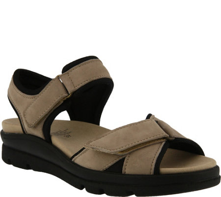 Spring Step Leather Criss Cross Sandals - Delray