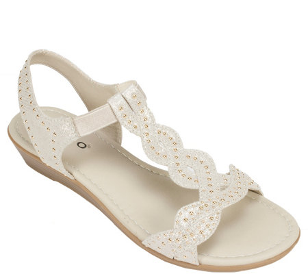 Rialto T-strap Wedge Sandals - Gemma