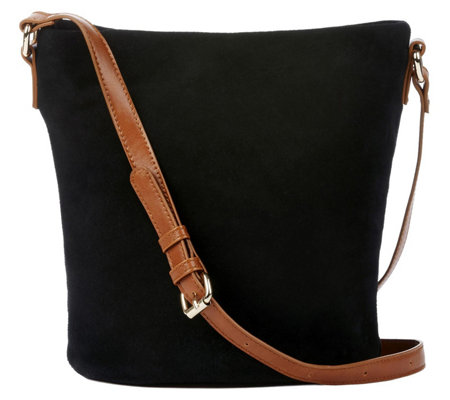 Sole Society Genuine Suede Slouchy Crossbody -Lana