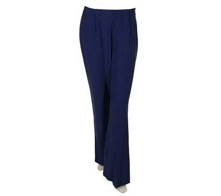 M by Marc Bouwer Stretch Crepe Hollywood Waist Wide Leg Pants