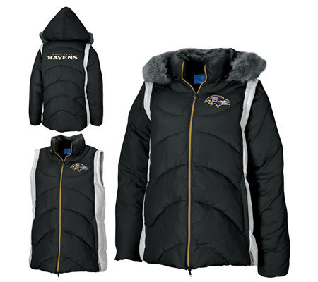 NFL Baltimore Ravens Women's 4-in-1 Quilted Parka